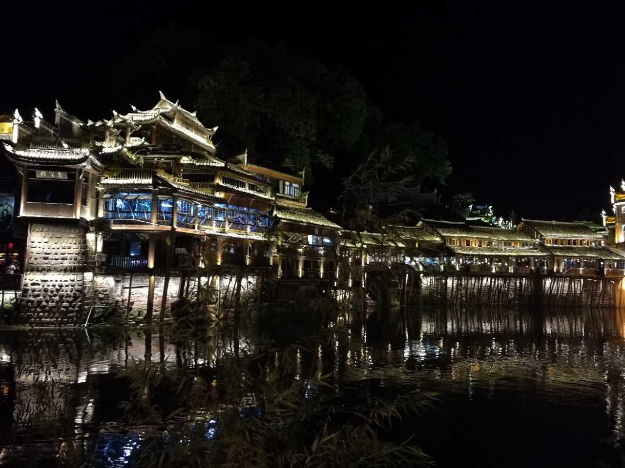 【全国网媒湖南行】凤凰古城夜景