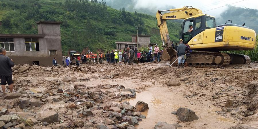 四川普格县发生泥石流已造成8人死亡