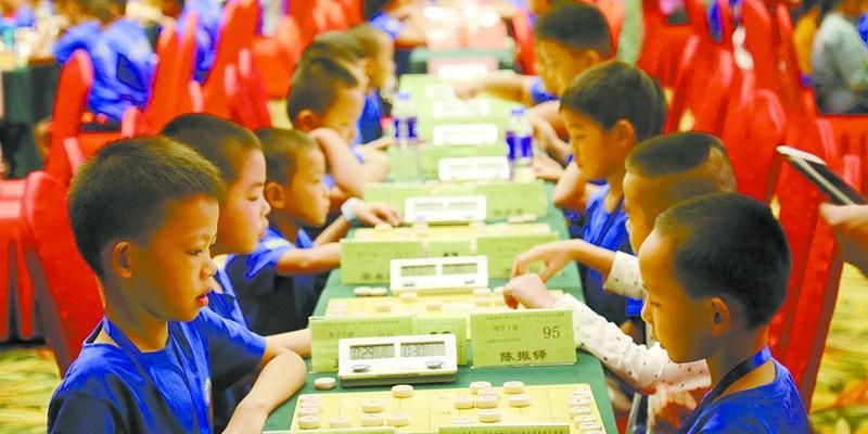 全国象棋儿童赛在衡阳开赛