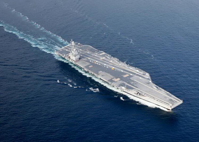 世界最先进航母 美国福特号航母海试图
