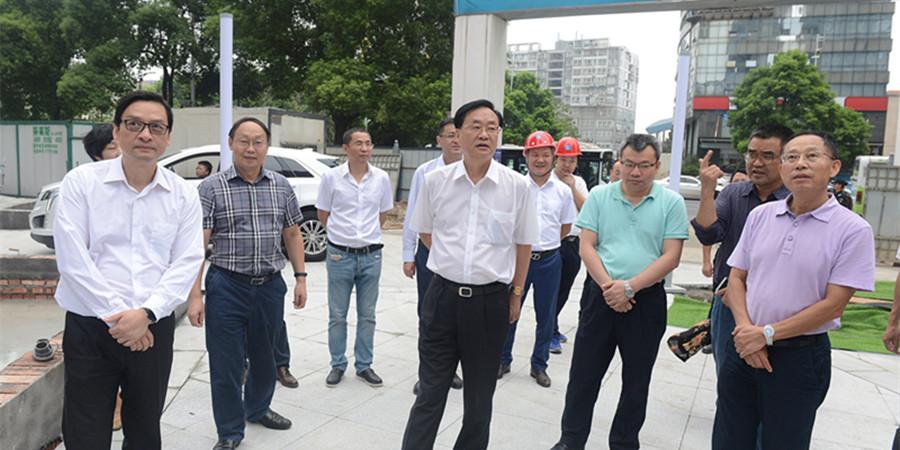 李友志调研新湖南大厦工程项目建设情况