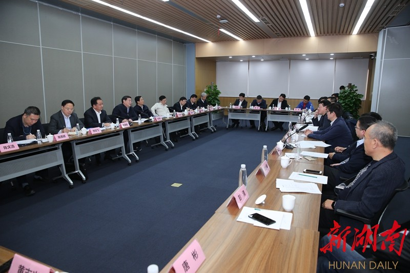 杜家毫许达哲等与部分在京湘籍互联网企业家座谈