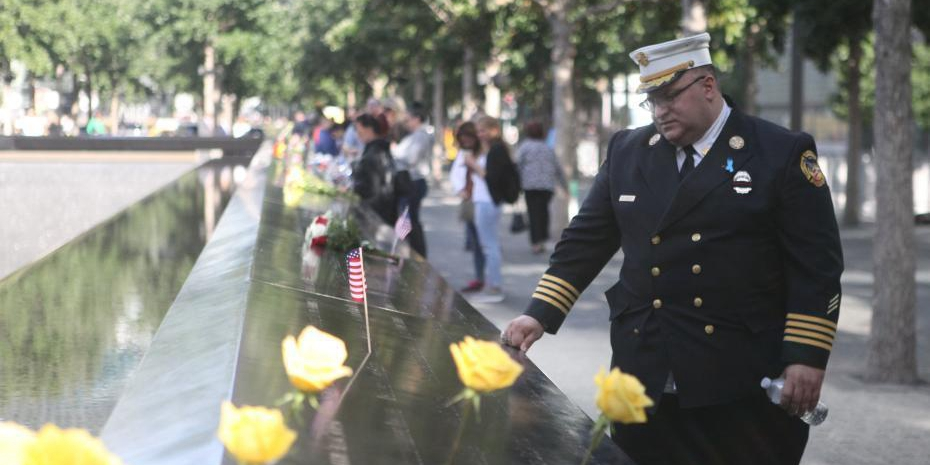 美国纽约举行9・11事件16周年纪念仪式