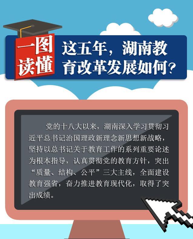 一图读懂|这五年,湖南教育改革发展如何?