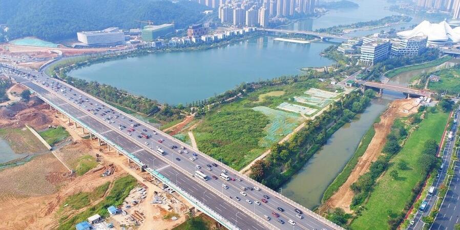 长沙龙王港大桥东扩工程完工