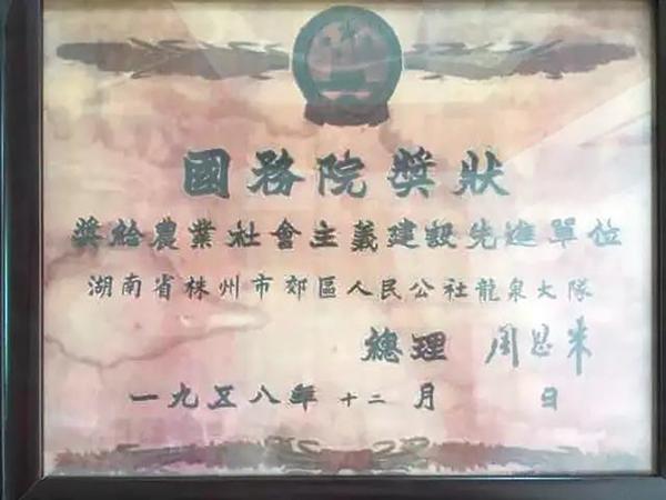 株洲龙泉村和周总理的特殊缘分