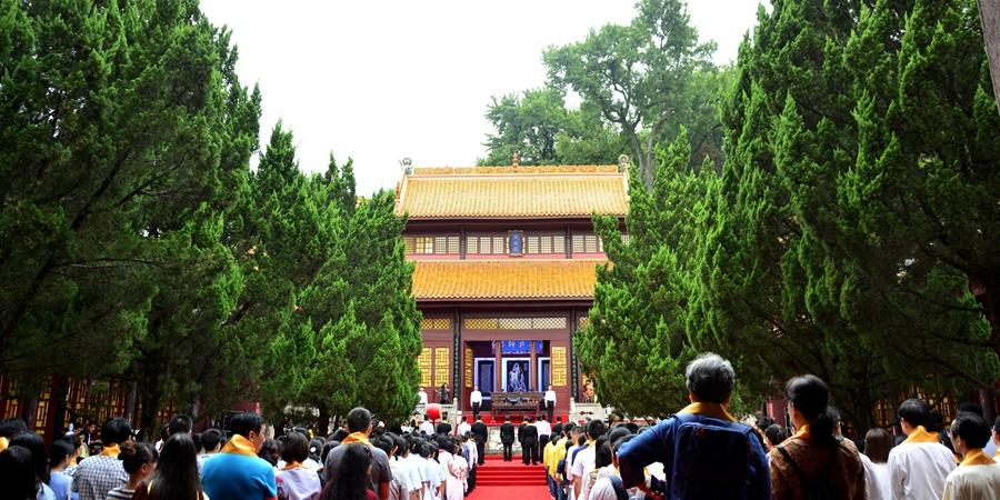 湖南岳麓书院举行祭孔大典 数百人共祭孔子诞辰2568周年