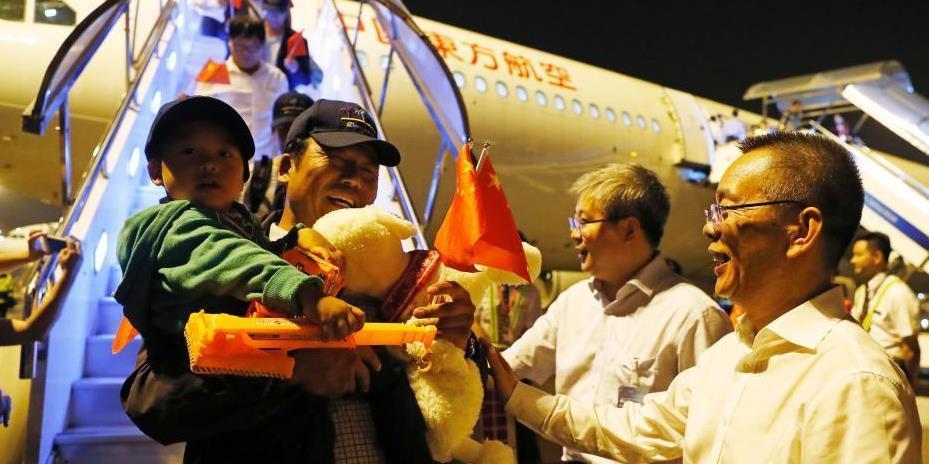 381名加勒比飓风灾区受困中国同胞抵达上海