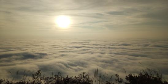 游客双节尽情把玩天岳幕阜山日照云海