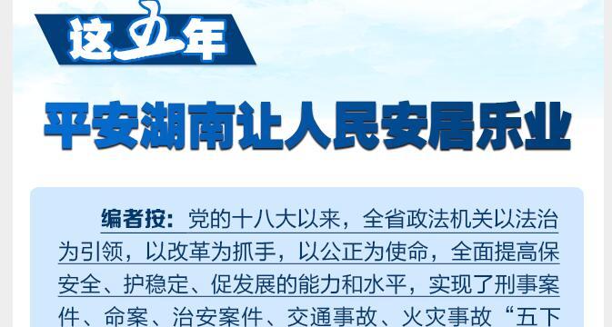 这五年,平安湖南让人民安居乐业
