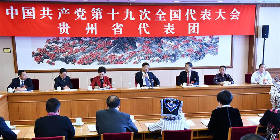 习近平参加党的十九大贵州省代表团讨论