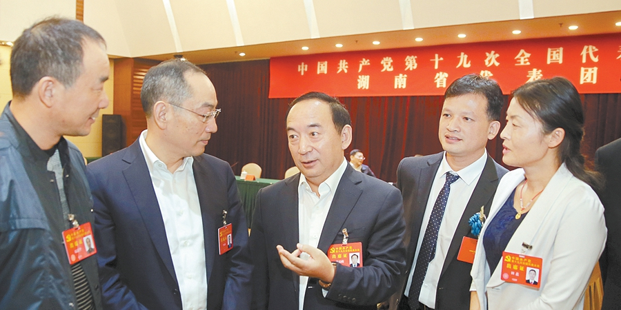 湖南代表团代表交流学习