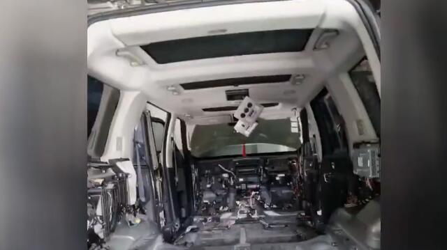过冬老鼠在百万豪车内搭窝 车被拆成空壳