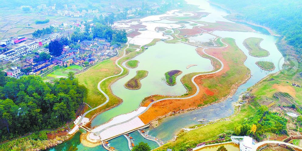 杭溪河入湖河口湿地项目主体工程完工