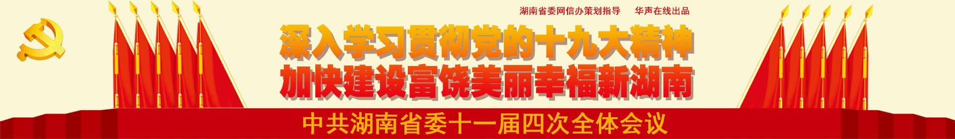 中共湖南省委十一届四次全体会议在长沙召开