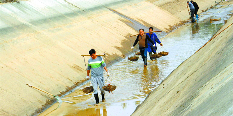 长沙黄材水库灌区掀起冬修水利热潮