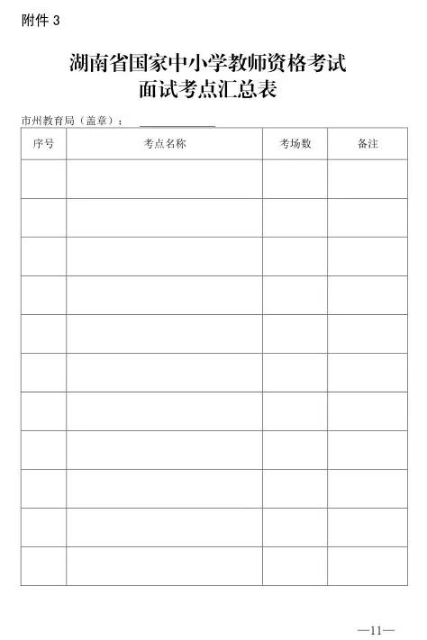 2017年湖南中小学教师资格考试面试报名本月