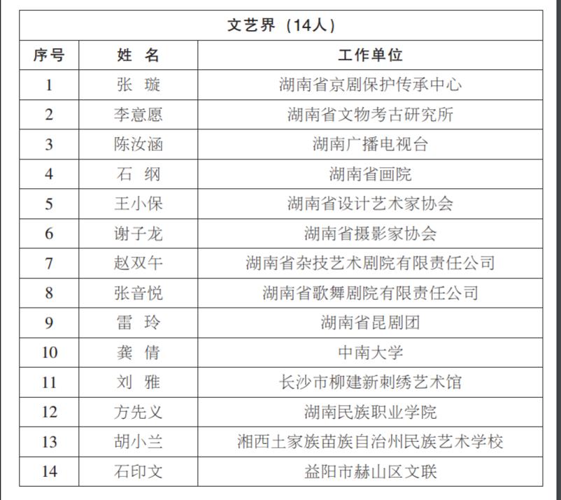 湖南省委宣传部公示
