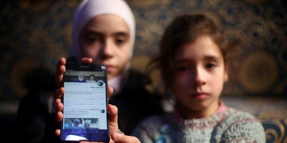 叙利亚小姐妹开通推特账号 记录战火中的动荡生活