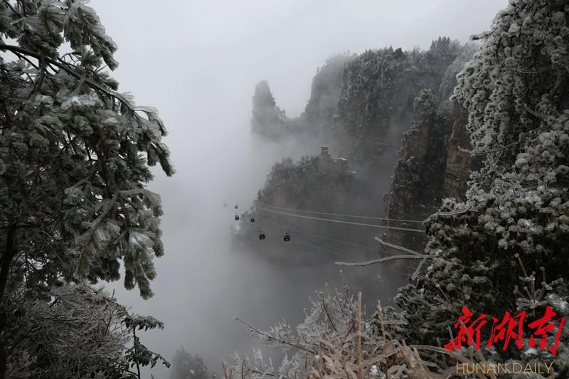 惊艳!2018年第一场雪后,只属于湖南的冰雪王国