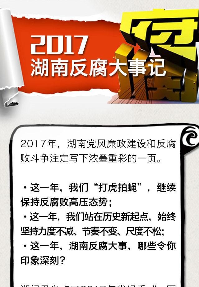 2017湖南反腐大事记【整治篇】