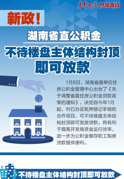 【图解】新政!省直公积金不待楼盘主体结构封顶即可放款