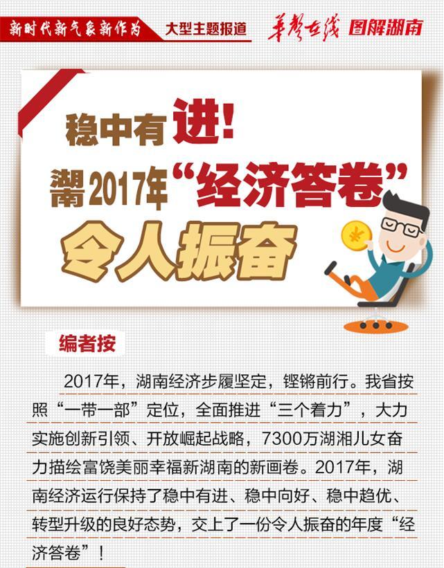 """【图解】稳中有进!湖南2017年""""经济答卷""""令人振奋"""