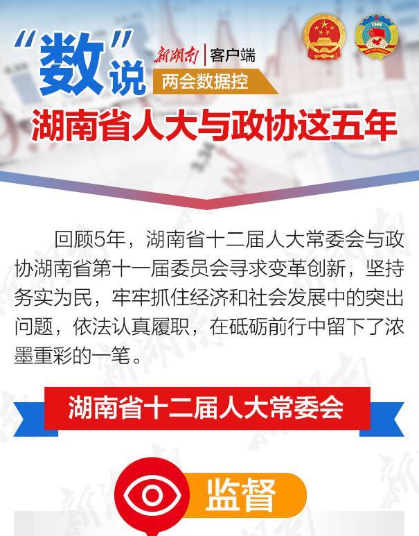 """两会数据控 """"数""""说湖南省人大与政协这五年"""