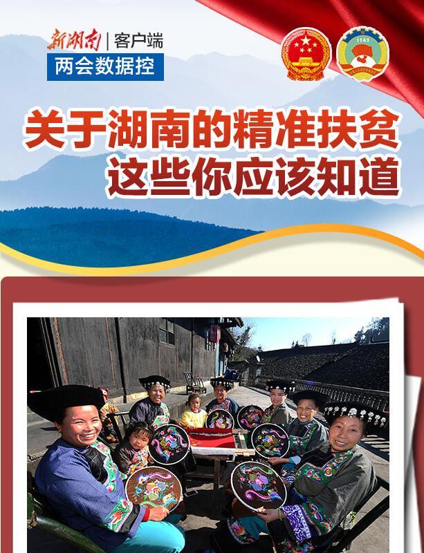 两会数据控丨关于湖南的精准扶贫,这些你应该知道