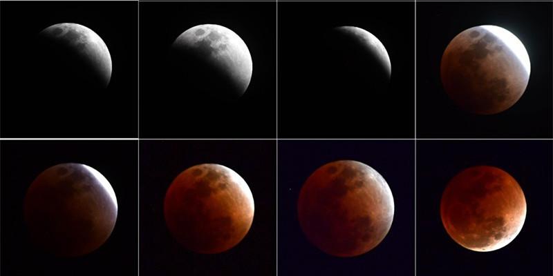 """""""超级月亮+蓝月亮+红月亮""""组团亮相 邀您一起见证天文奇观"""