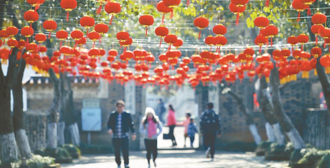 长沙:张灯结彩迎春节
