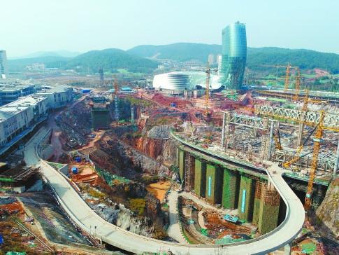 长沙大王山旅游度假区湘江欢乐城项目建设见闻