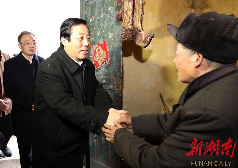 许达哲在怀化调研精准脱贫、看望慰问困难群众 新湖南www.hunanabc.com