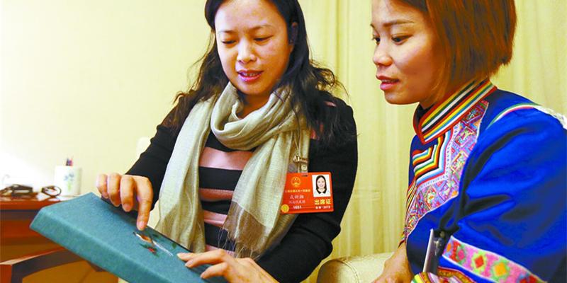 住湘全国人大代表呼吁扶持湘绣产业
