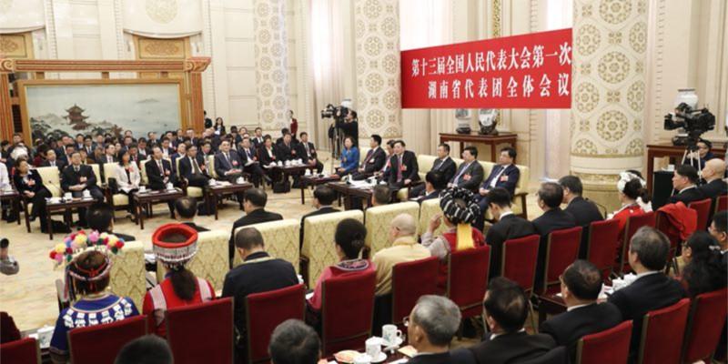湖南日报记者镜头里的湖南代表团开放日