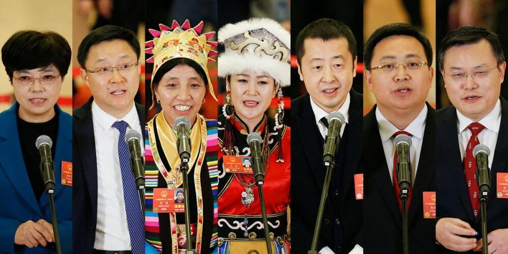 """【2018两会】""""代表通道""""第三次开启 7位代表激情满怀畅谈中国故事"""