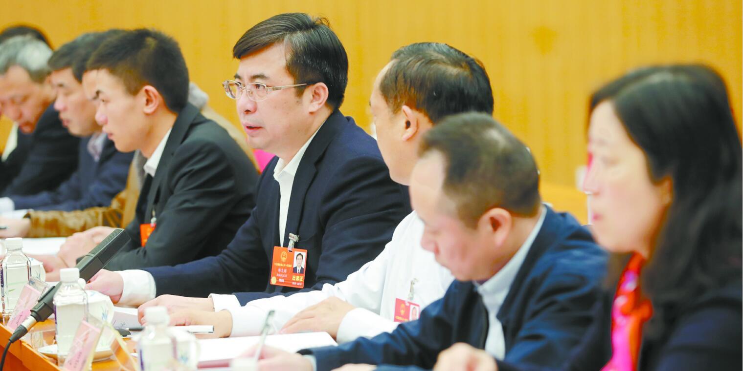"""湖南代表团第五次全体会议审议""""两高""""工作报告"""
