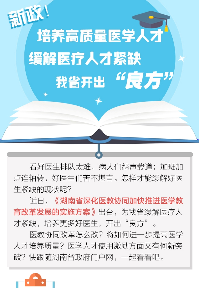 """新政!培养高质量医学人才 湖南开出""""良方"""""""