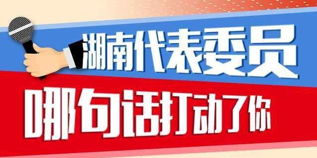 图解两会:湖南代表委员哪句话打动了你?