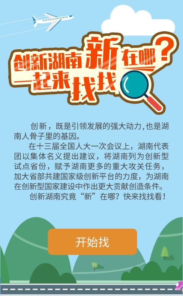 两会H5:创新湖南新在哪?一起来找找