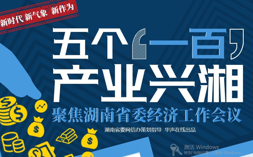 """五个""""一百"""" 产业兴湘——聚焦湖南省委经济工作会议"""