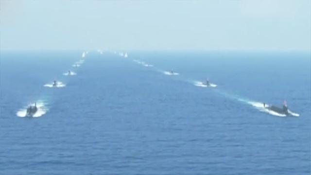 中国海军最强大集结亮相