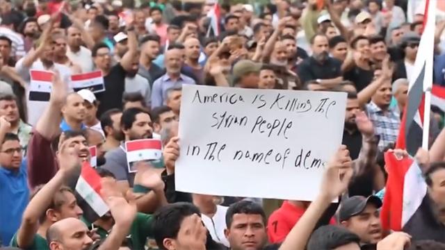 对叙打击告一段落 中东人民愤怒持续