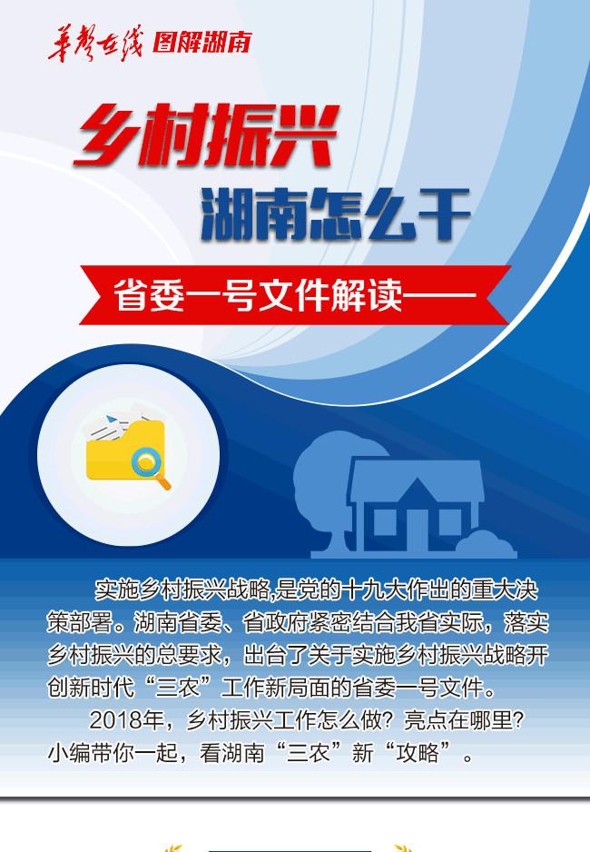 【图解】乡村振兴湖南怎么干 省委一号文件解读——