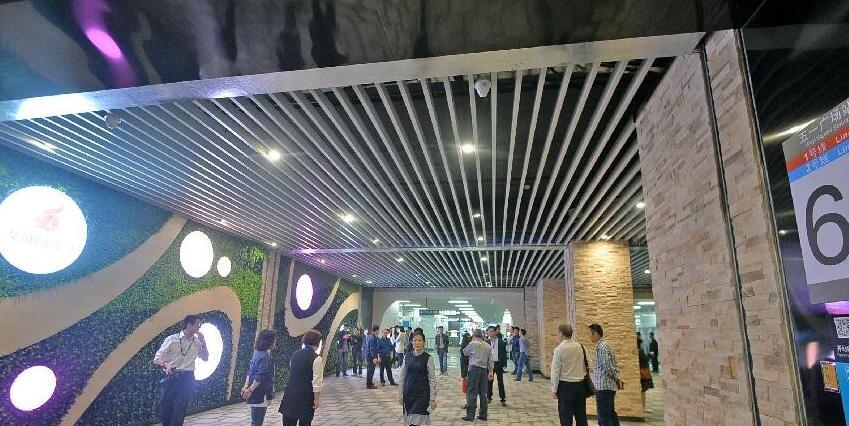 长沙地铁五一广场站8个出入口全部贯通