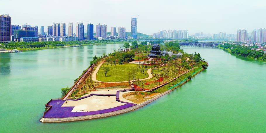 衡阳东洲岛:景出江心