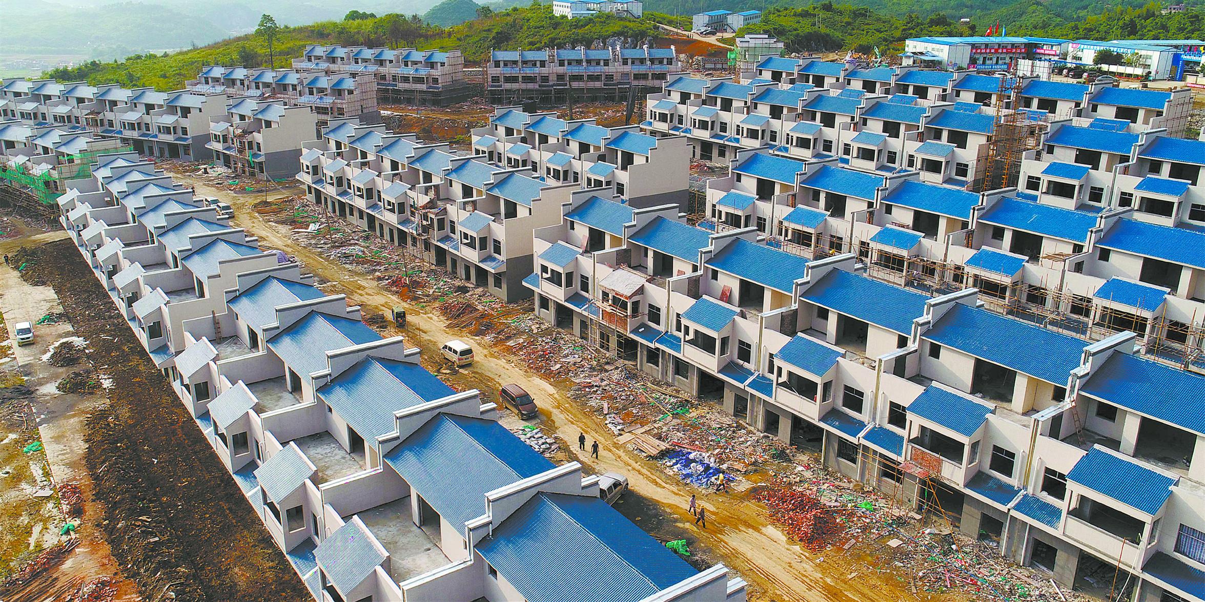 郴州莽山水库移民安置房主体工程完工