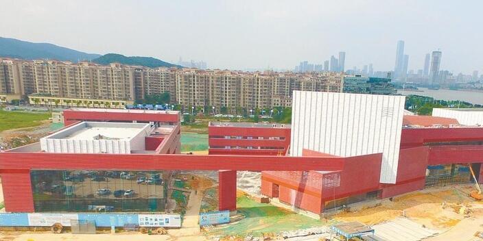 湖南省美术馆外墙幕墙安装完成