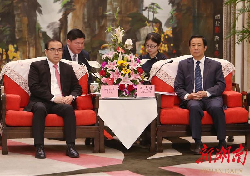 许达哲会见柬埔寨农林渔业部长荣萨孔