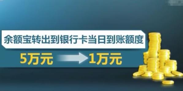 6月6日起 余额宝将提现额度从5万下调至1万